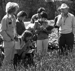 Richard Pohl in the field with other botanists