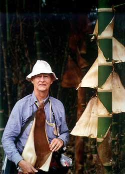 R.W. Pohl with bamboo